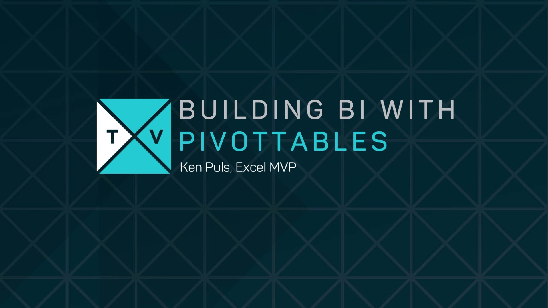 building bi with pivot tables online course excel tv members