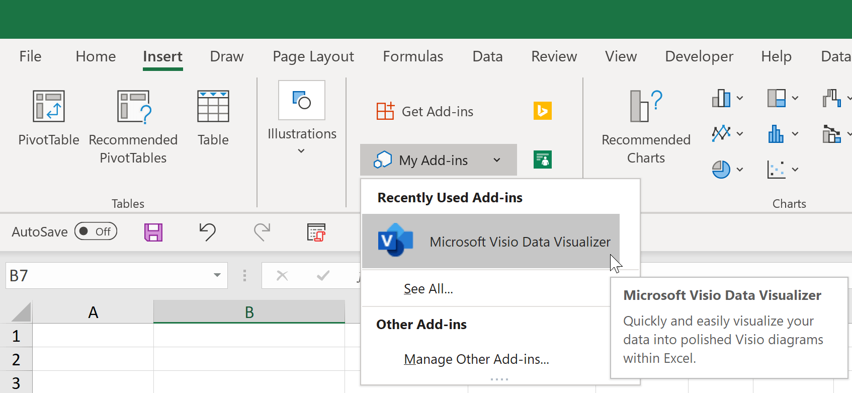Microsoft Excel Visio Data Visualizer Add In for Excel A Quick ...