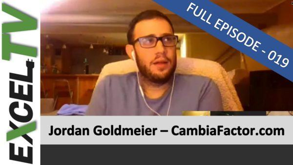 Jordan Goldmeier, Excel TV Episode