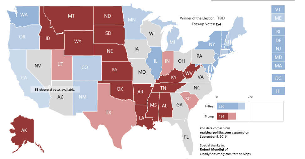 2016 Interactive Election Map - FREE Download - Excel TV