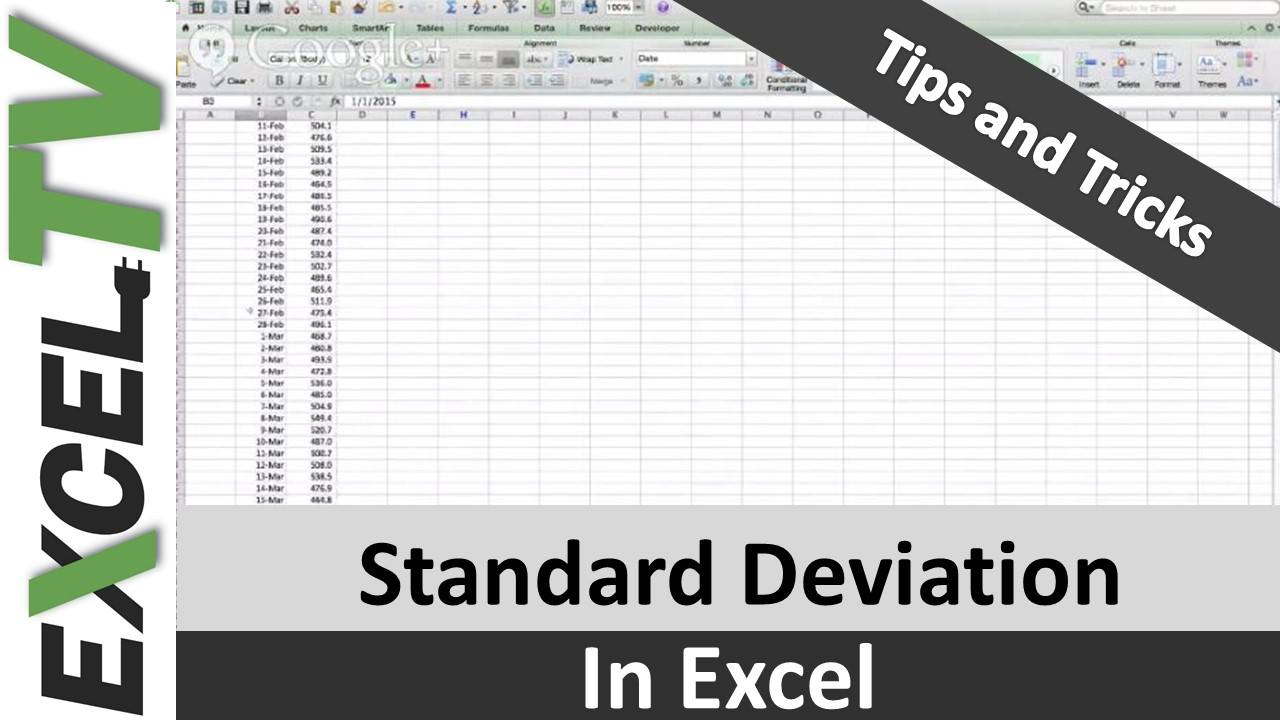 how to draw standard deviation in excel